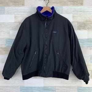 Vintage Warm Up Jacket Black Purple LL Bean